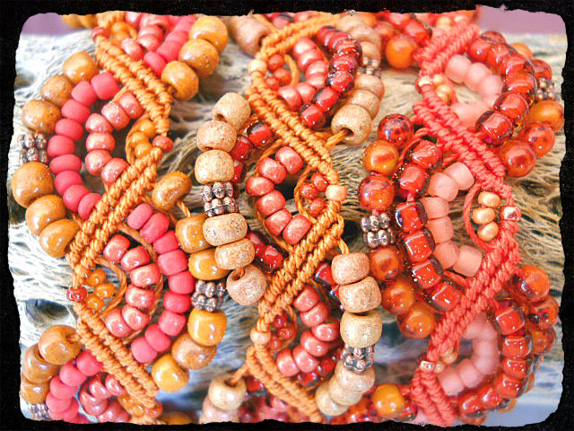 Orange Crayon Color Challenge Bracelet 2 by The Beading Yogini