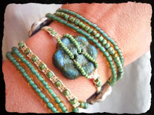 Button Challenge Bracelet by The Beading Yogini