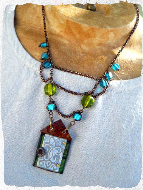 MAY ABS One Old House Necklace by The Beading Yogini
