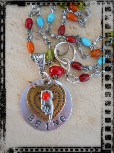 Pendant BEING 2 by The Beading Yogini