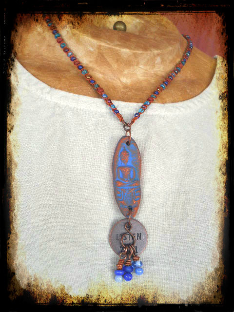 Listen#1Necklace by The Beading Yogini