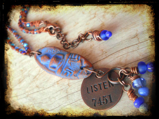 Listen#3Necklace by The Beading Yogini
