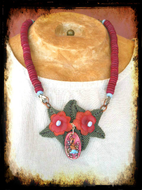 Nature Challenge Necklace by The Beading Yogini