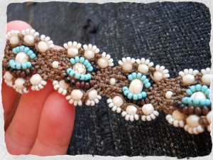 Reverse Side of Tonga KieKie Bracelet by The Beading Yogini