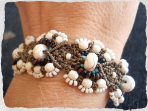 Tonga KieKie Macrame Bracelet by The Beading Yogini