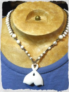 Tonga Whale Tail Necklace by The Beading Yogini