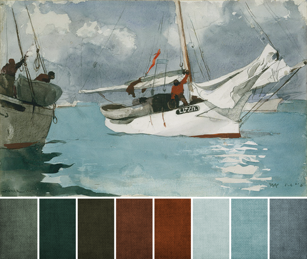 aug 2012 - fishing boats key west by winslow homer palette copy