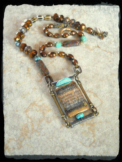 2KBS Prosperity NEcklace by The Beading Yogini