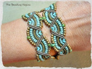 Double Wave Bracelet by The Beading Yogini