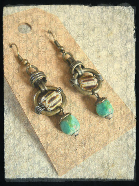 Prosperity Earrings by The Beading Yogini