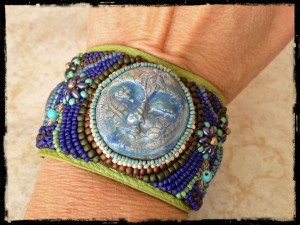 Moon Cuff Bracelet by The Beading Yogini