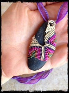 TriPurpleFlatWrapRock by The Beading Yogini