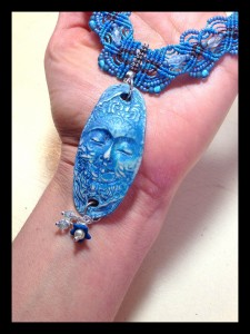 Blue Moon Necklace by thebeadingyogini