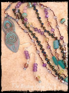 Goddess Necklace and Earrings by The Beading Yogini