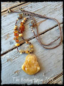 Happy Buddha Knoted Necklace by The Beading Yogini