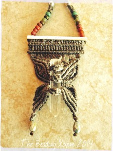 ABS June Close Up Macrame Butterfly Necklace by The Beading Yogini