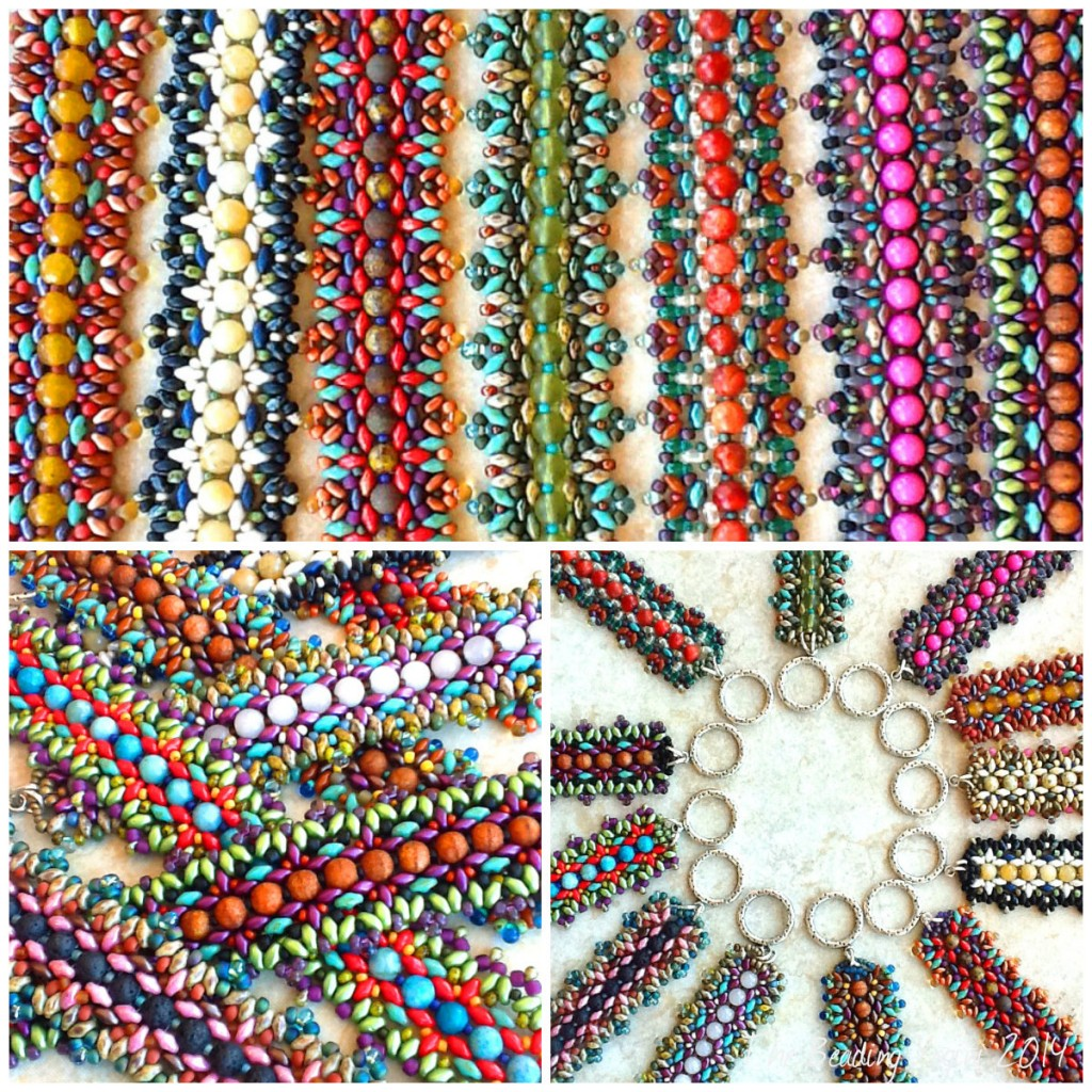 Cuff collage by The Beading Yogini