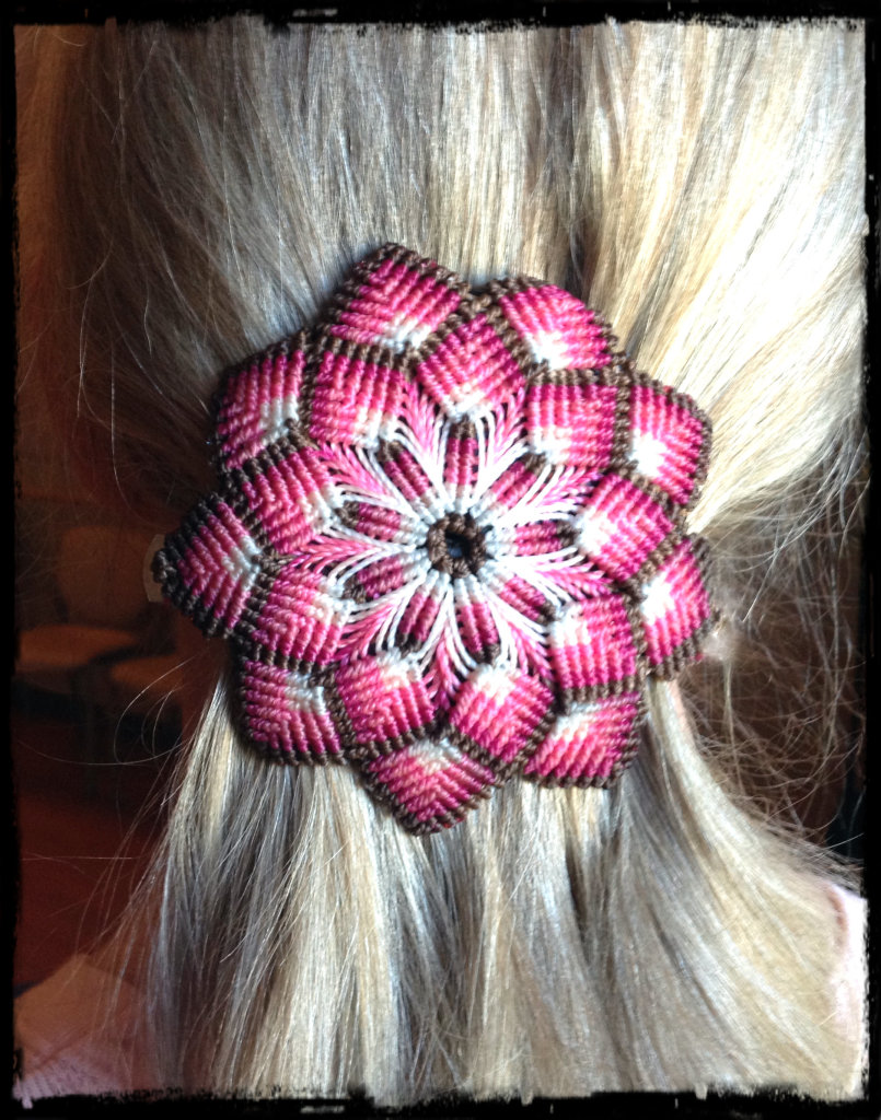 Pink Mandala Hair Accessory by The Beading Yogini