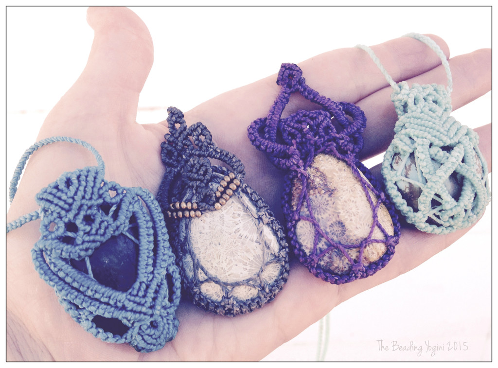 Knotted Stones By the Beading Yogini 2015